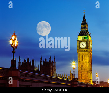 GB-LONDON-HÄUSER DES PARLAMENTS WESTMINSTER BRIDGE - Stockfoto