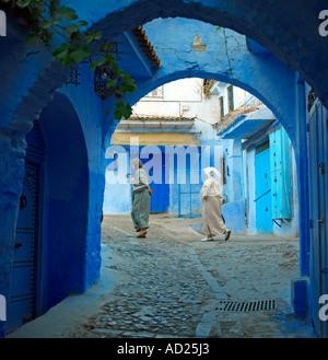 Chefchaouen dem blauen Rif Marokko - Stockfoto