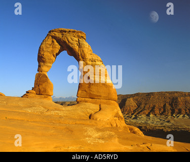 USA - UTAH: Delicate Arch im Arches National Park - Stockfoto