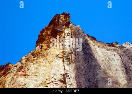 Farbigen sand Alum Bay Isle of Wight - Stockfoto
