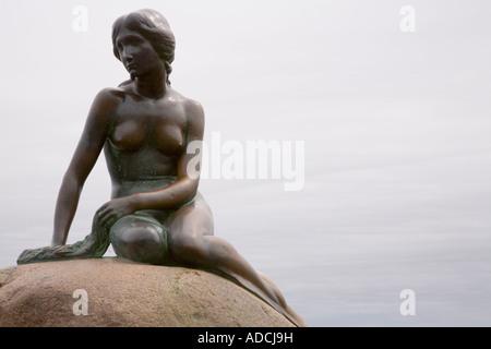 Die Statue der kleinen Meerjungfrau in Kopenhagen, Dänemark. - Stockfoto