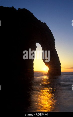 England. Dorset. Jurassic Coast. Durdle Door rock Arch. - Stockfoto