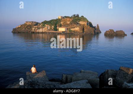 Isola Lachea Aci Castello Sizilien Italien - Stockfoto
