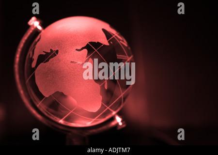 Weltweit, Karte, rot, Glas, Globe, global, weltweit, - Stockfoto