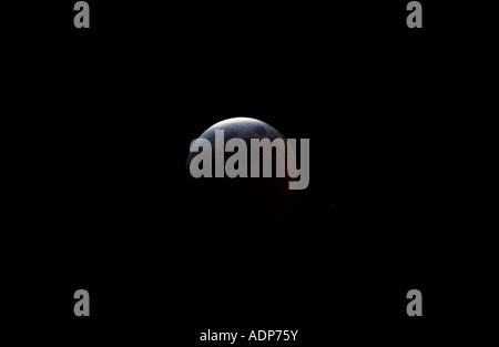 Sonnenfinsternis Mond Southern England, United Kingdom - Stockfoto