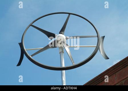 windkraftanlage fuer zu hause erneuerbare energie konzept
