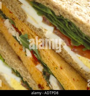 Sandwich-Querschnitt - Stockfoto