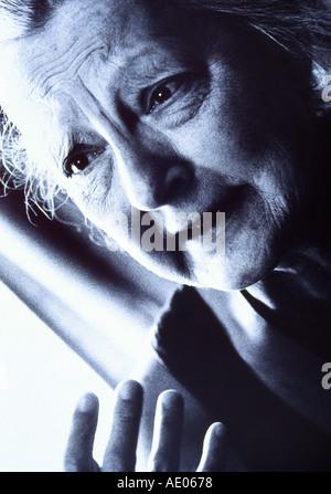 alte Frau emotion - Stockfoto