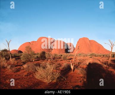 Die Olgas Teil des Uluru Kata Tjuta National Park Central Australia Northern Territory Australien - Stockfoto
