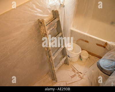 Umbau der Badezimmer home Haltung zu erneuern neue Leiter - Stockfoto
