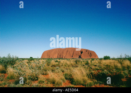 Ayers Rock im Uluru National Park im Northern Territory in Australien - Stockfoto