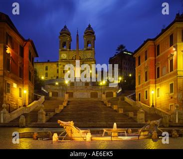 Europa Italien Lazio Rom Spanische Treppe & Piazza Di Spagna - Stockfoto
