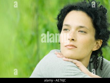 Frau, Porträt - Stockfoto