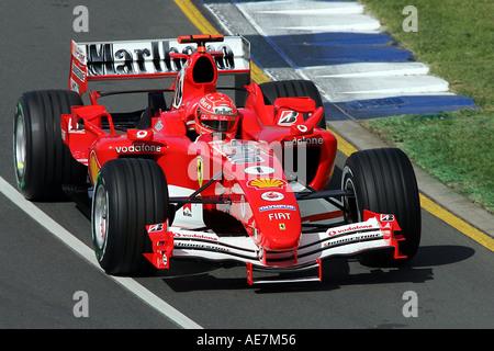 Michael Schumacher GER Ferrari F2004 australischen Grand Prix Formel 1 Freitag 2 6 03 05-Melbourne-Australien - Stockfoto