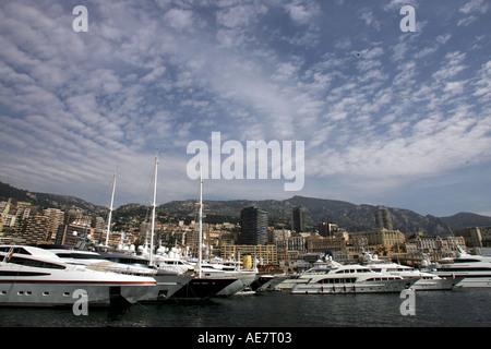 Boote im Hafen von Monaco Monaco Grand Prix Formel1 Sonntag 22 05 05 Monte Carlo Monaco - Stockfoto