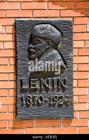 Lenin Relief Gedenktafel (Statue) Szobor Park, Budapest, Ungarn - Stockfoto