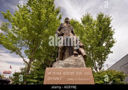 """""""Whitman Statue, Walla Walla, Washington"""" - Stockfoto"""