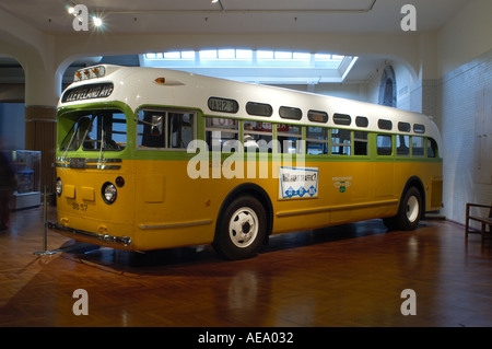 Rosa Parks Bus auf dem Display an das Henry Ford Museum in Dearborn, Michigan - Stockfoto