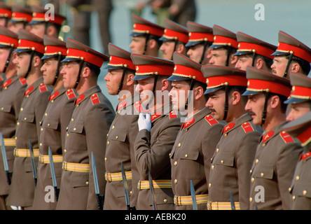 Armee auf der Parade in Ungarn - Stockfoto
