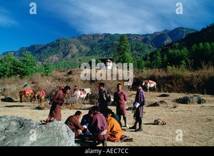 Reiter-Bhutan - Stockfoto