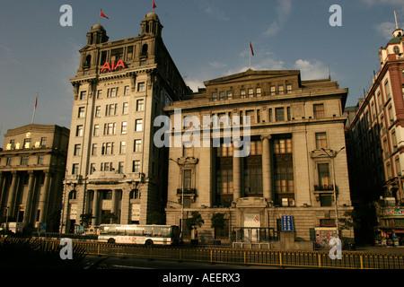 Shanghai China kolonialen Gebäuden entlang der Bund abgeschlossen in den 1920er Jahren waren ein Symbol der Europäischen - Stockfoto