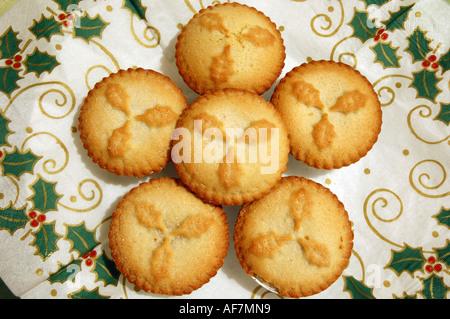 Weihnachten Mince pies - Stockfoto
