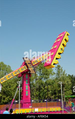 Cypress Gardens Adventure Park Florida Fl Winter Haven Florida Attraktionen Wechselrichter thrill ride - Stockfoto