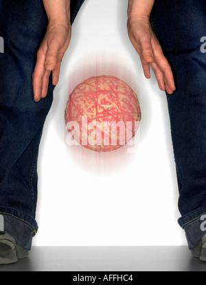 einen Gummiband-Ball Drop - Stockfoto