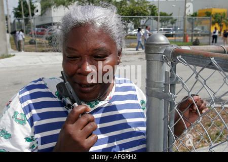 Florida, FL, Süd, Miami, 'Little Haiti', Black Black African Africans ethnischen ethnischen Minderheiten Minderheiten, - Stockfoto