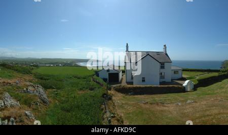 Dwyros CP Aberdaron Wales U K Europa Lleyn Halbinsel Ynys Gwylan fawr - Stockfoto