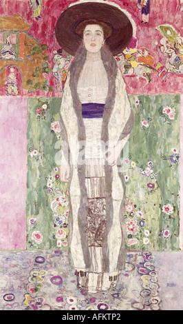"""""""Fine Arts, Klimt, Gustav (14.7.1862 - 6.2.1918), Malerei,""""Bildnis Adele Bloch - Bauer"""", 1912, Österreichische Galerie, - Stockfoto"""