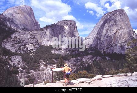 Half Dome und Liberty Cap Yosemite - Stockfoto