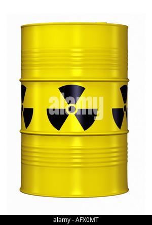 Fass-Stapel mit nuklearen Abfällen Fass Atommüll - Stockfoto
