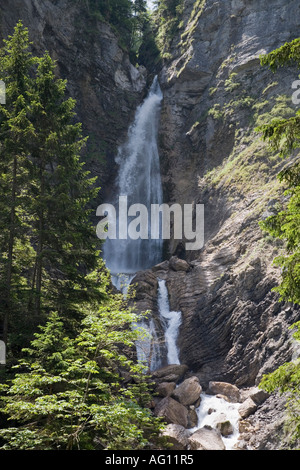 "Unteren Martuljek Wasserfall im ""Triglav National Park' in den Julischen Alpen im Sommer. Gozd Martuljek-Slowenien - Stockfoto"