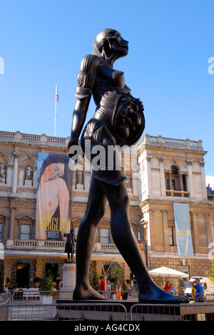 The Royal Academy of Art , Summer Exhibition , Damian Hurst , sculpture of pregnant woman showing , on one side - Stockfoto