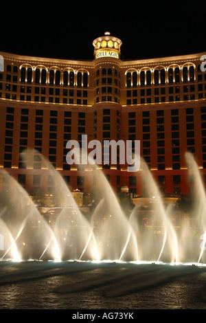 Der Brunnen-Show vor dem Bellagio Hotel und Casino auf dem Las Vegas Strip-Nevada