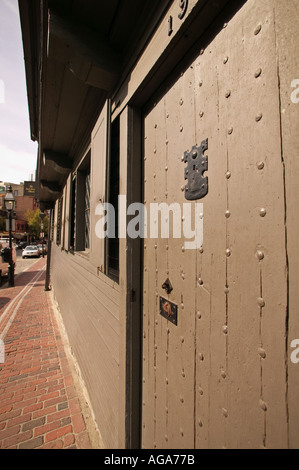 Paul Revere House Boston MA auf roten Backstein Freedom Trail in Boston North - Stockfoto