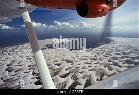 Brasilien, Recife, Sanddüne Luftaufnahme von Catalina PBY-5a-Flugboot - Stockfoto