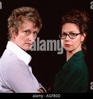 Zwei schwere Frauen - Stockfoto