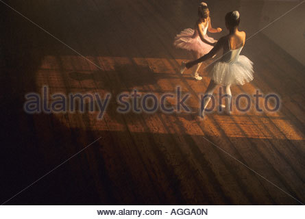 Ballerinas im Proberaum - Stockfoto