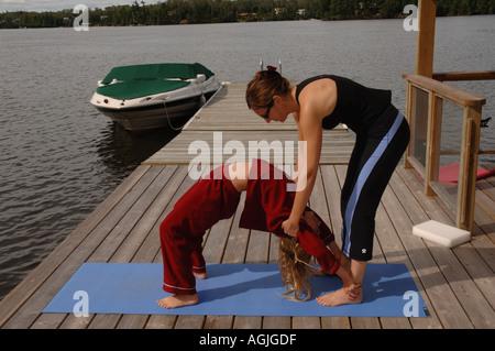 Lifestyle im Lake Of The Woods Ontario Kanada - Stockfoto