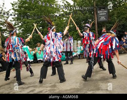 Morris Männer bei einem Folk Festival Yorkshire England UK - Stockfoto
