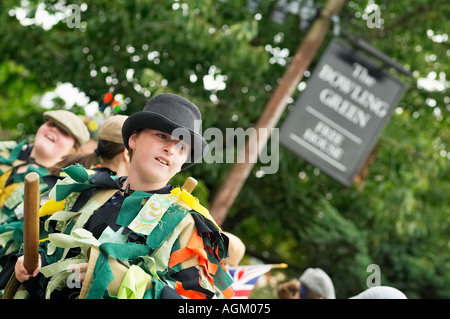 Teenager Morris Männer bei einem Folk Festival Yorkshire England UK - Stockfoto