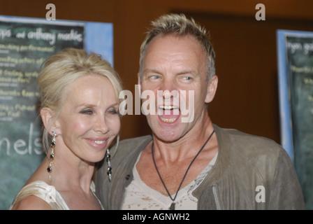 2. August 2006 statt New York Musiker Sting und seine Frau Trudie Styler bei der New York Premiere von Half Nelson - Stockfoto