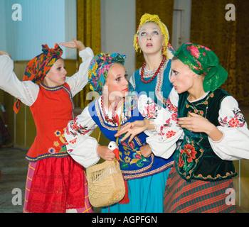 Leistung der Volkstanzgruppe Bessarabskij Souvenir - Stockfoto