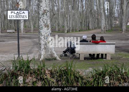 PARC DE LA DEVESA LA DEVESA PARK IN DER STADT GIRONA PROVINZ GIRONA-KATALONIEN-KATALONIEN-SPANIEN - Stockfoto