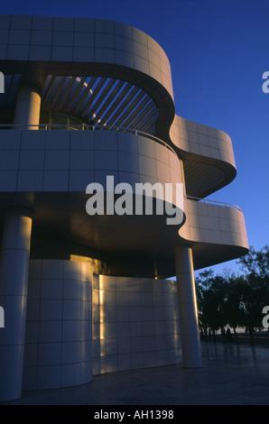 Das Getty Center in Los Angeles bei Sonnenuntergang - Stockfoto