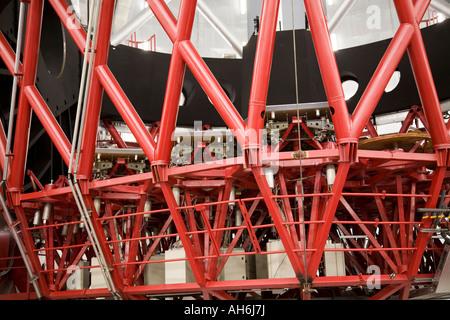 Teil des Spiegels zu unterstützen, Struktur und Spiegel der Gran Telescopio Canarias, Roque de Los Muchachos Observatorium - Stockfoto
