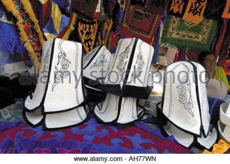 Kirgisistan, Kirgisische Hüte - Stockfoto