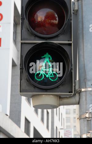 Deutsche Ampel Signal, Zyklus Priorität angibt - Stockfoto